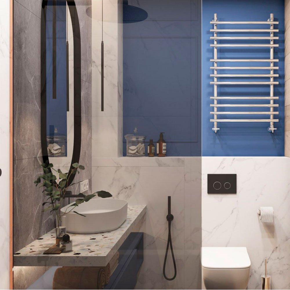 Стеклянные перегородки в дизайне ванной комнаты