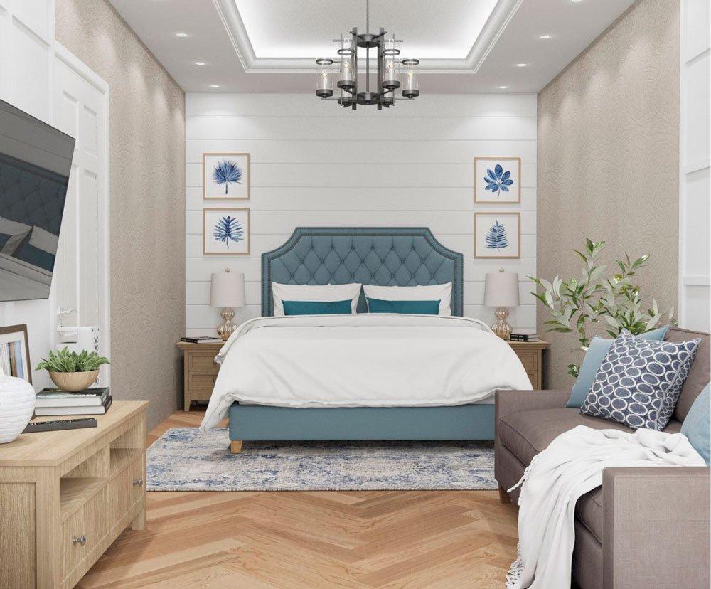 Спальня в однокомнатной квартире в стиле Прованс