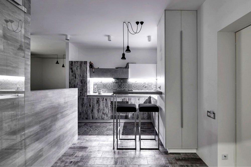 Смелый дизайн однокомнатной квартиры