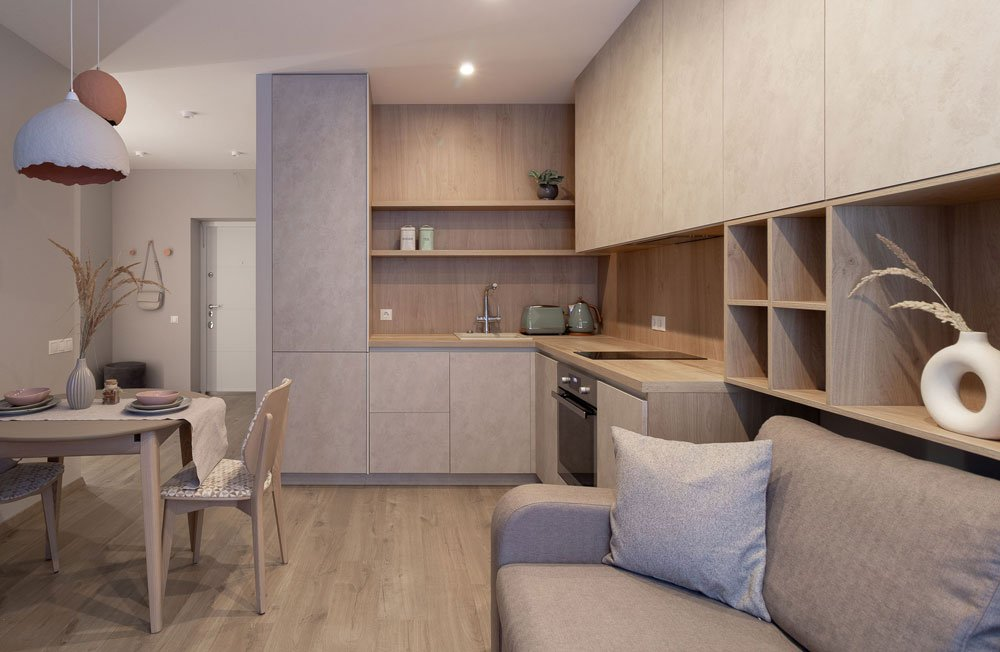 Этюд степи в дизайне квартиры