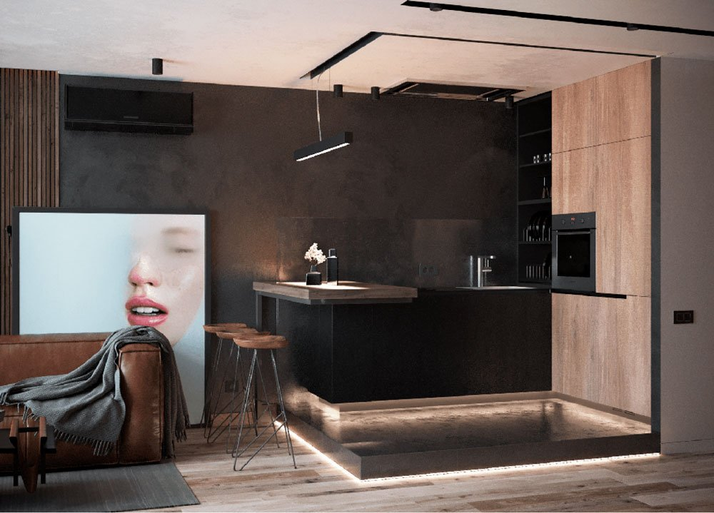 Интерьер квартиры в стиле лофт