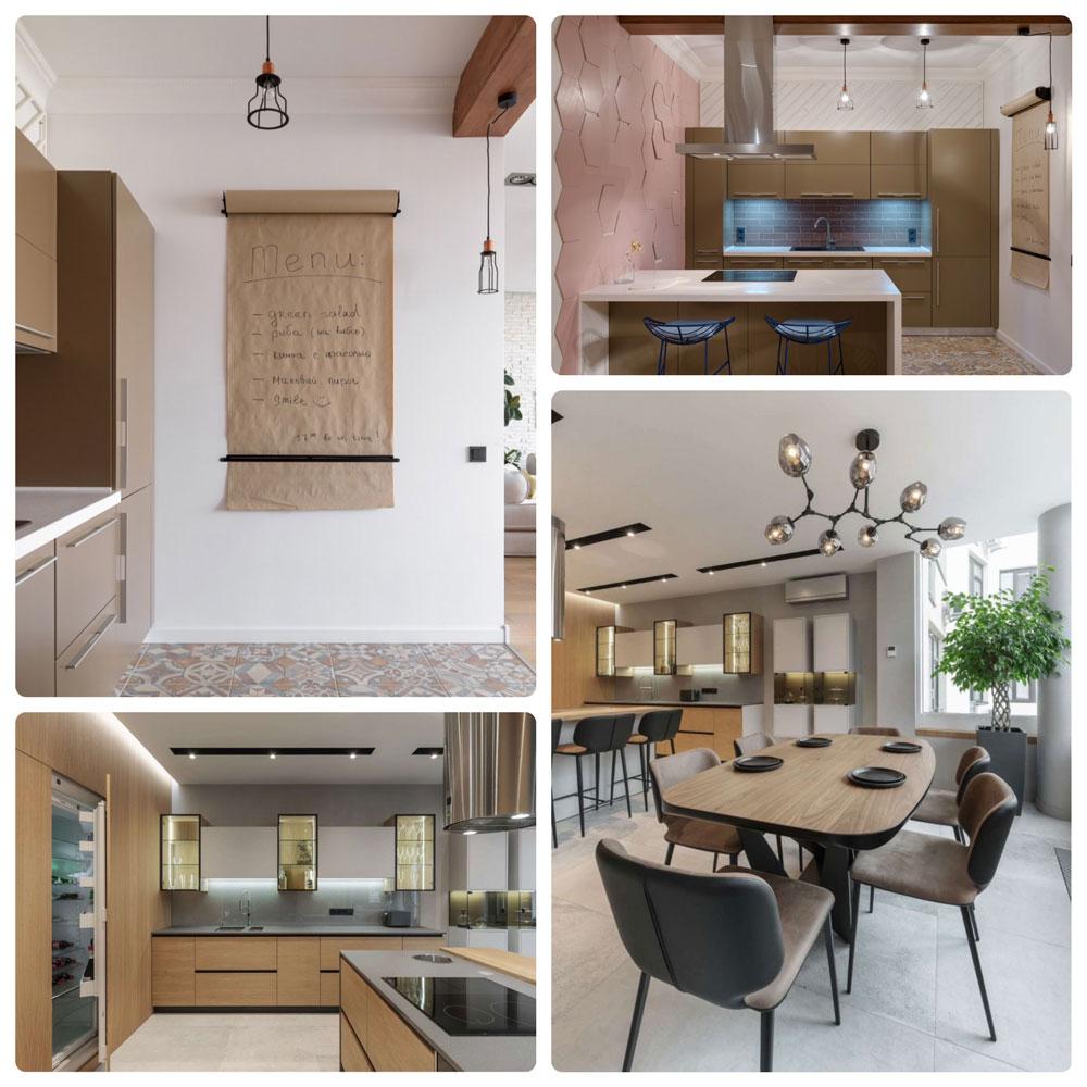 Идеи оформления кухни, взвешенная цветовая гамма, простые формы - скандинавский стиль