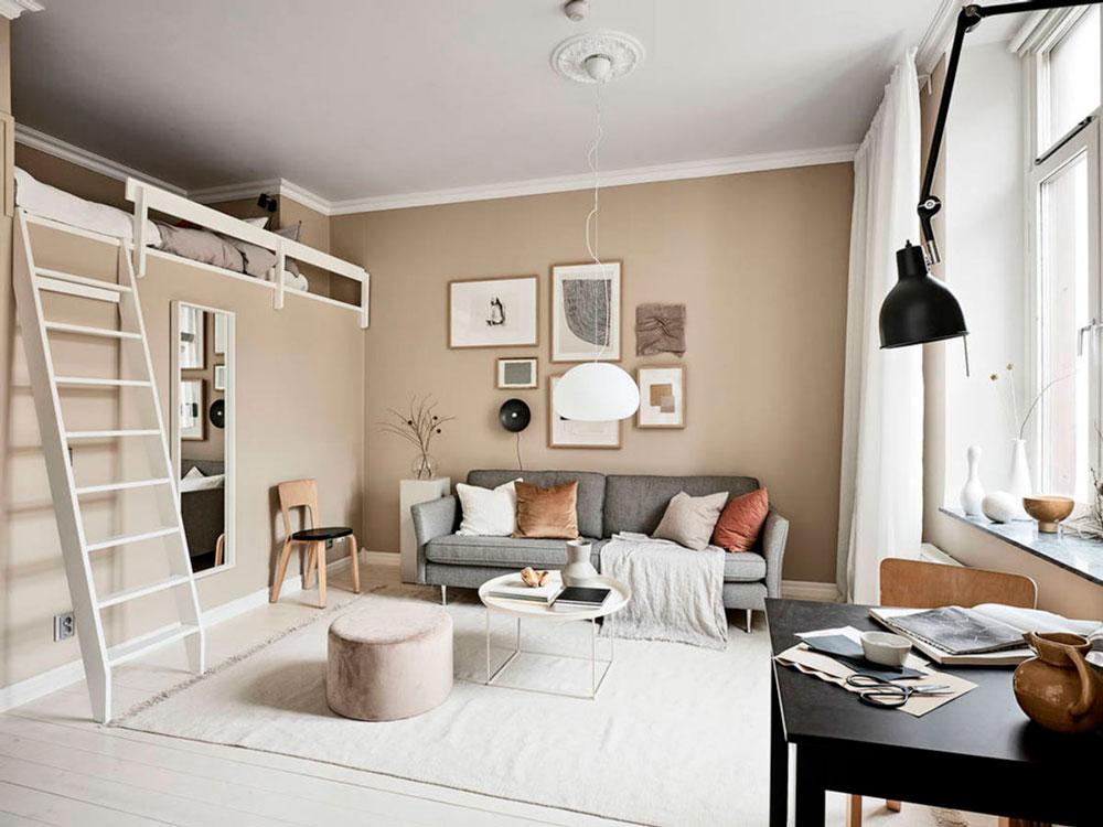 Тщательно подобранные элементы дизайна современной квартире