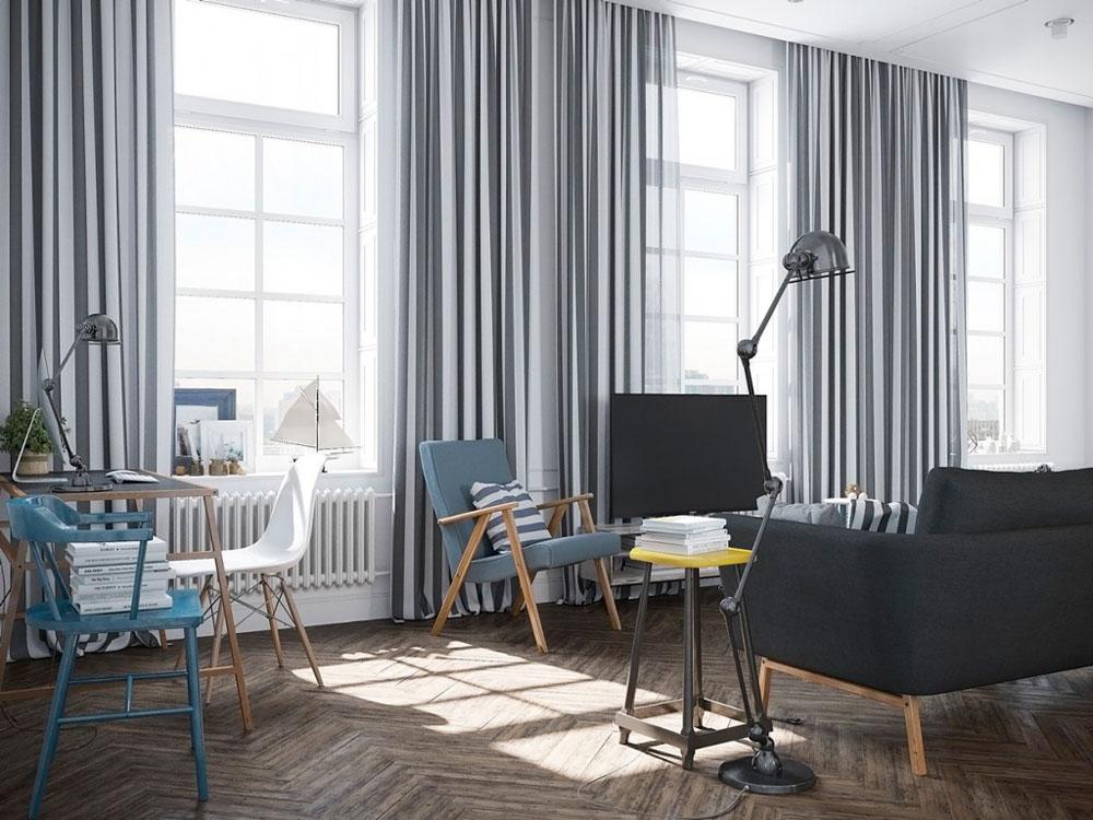 Диван, кресла, текстиль в оформлении комнаты