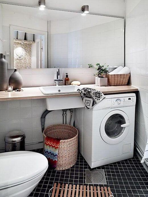 Как установить стиральную машину в маленькой ванной комнате: креативные идеи и варианты.
