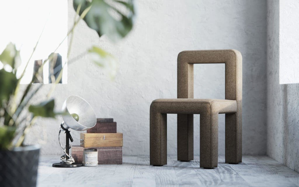Кресло было разработано специально для общественных пространств: лобби отелей, офисов, студий и т.д. Материал: войлок, текстиль.