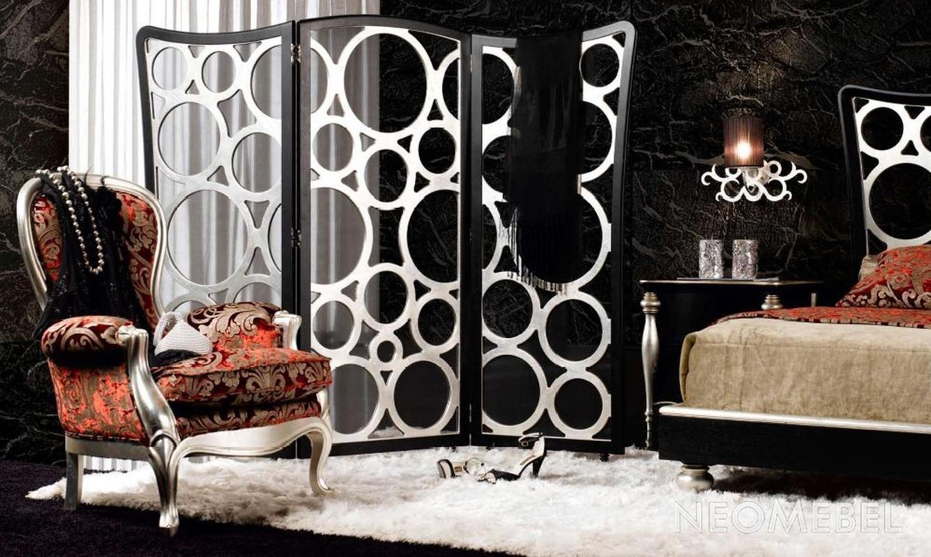 Ширма в спальне уже устоявшийся элемент французского стиля