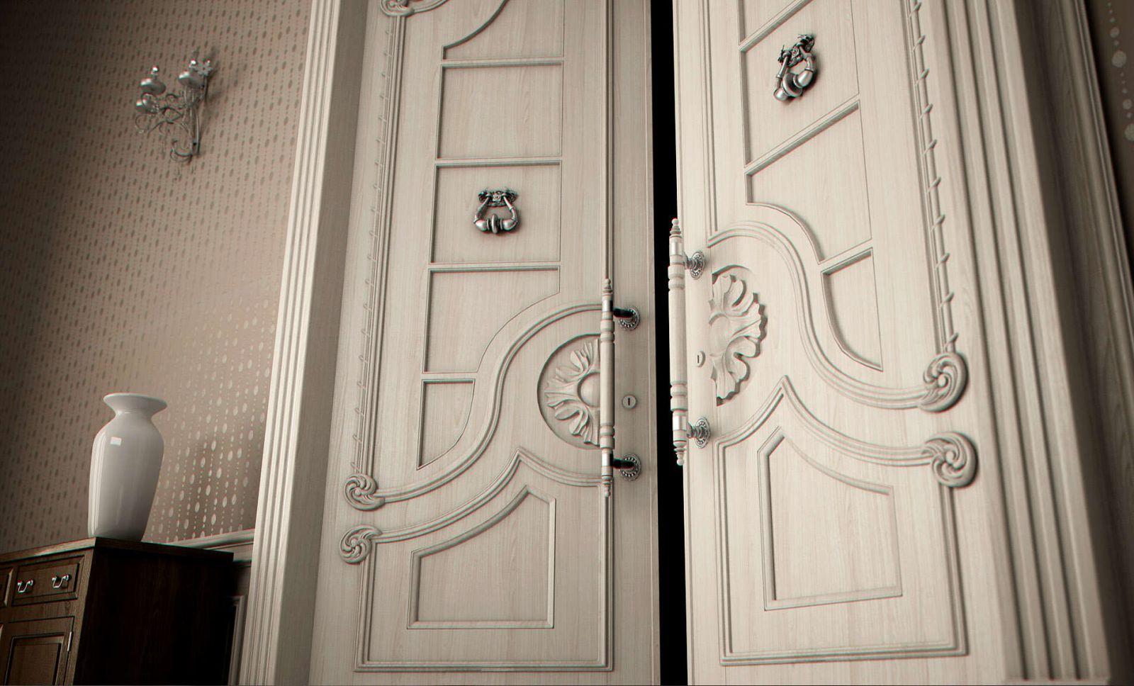Двери из натурального дерева белые