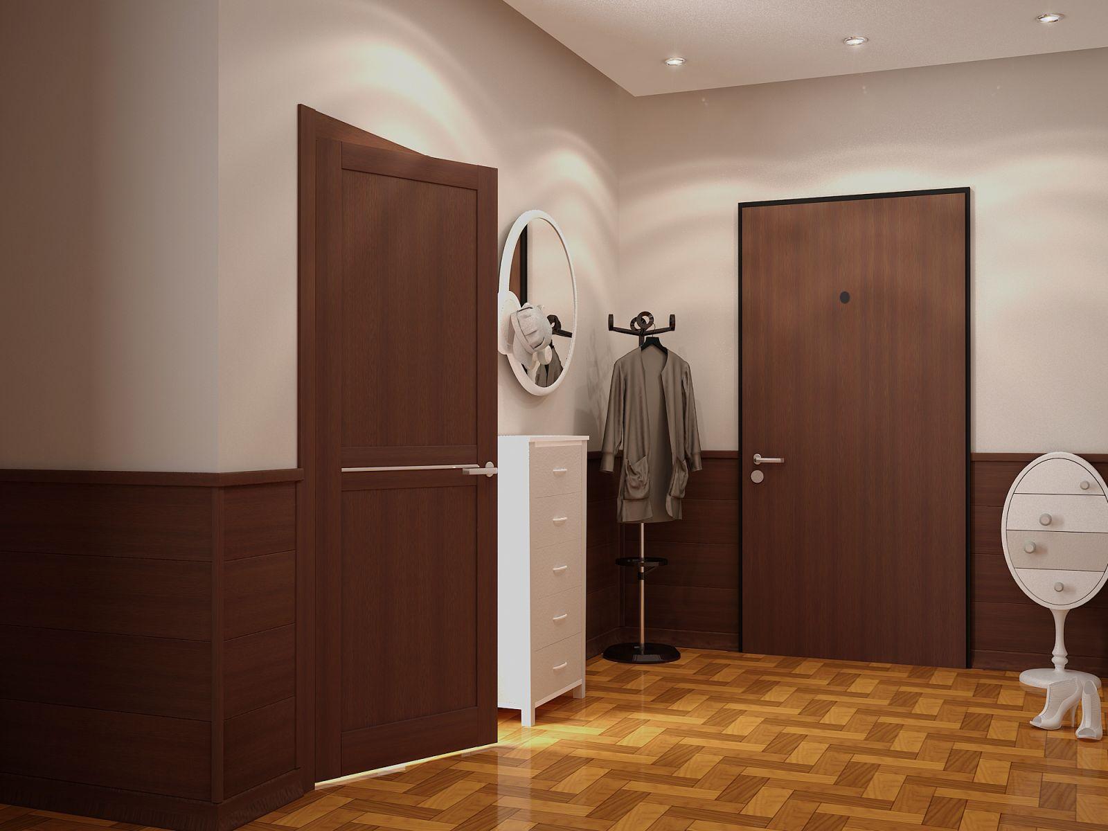 Межкомнатные двери с вставками металла
