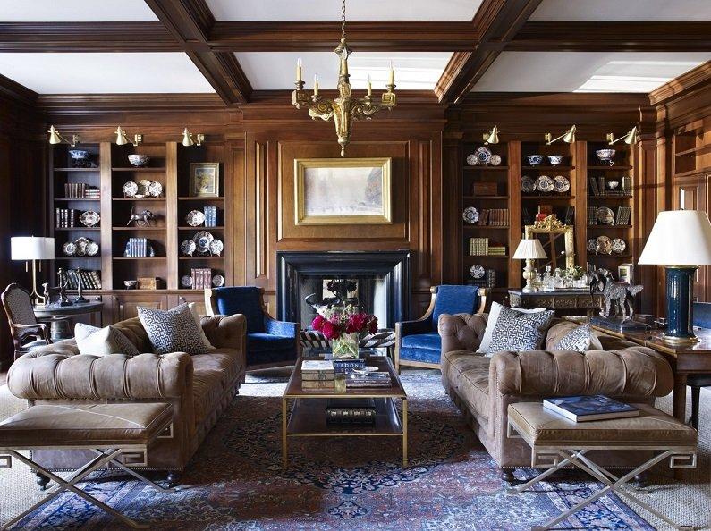 Сочетание разнообразных принтов является главным условием создания идеального пространства в американском стиле.