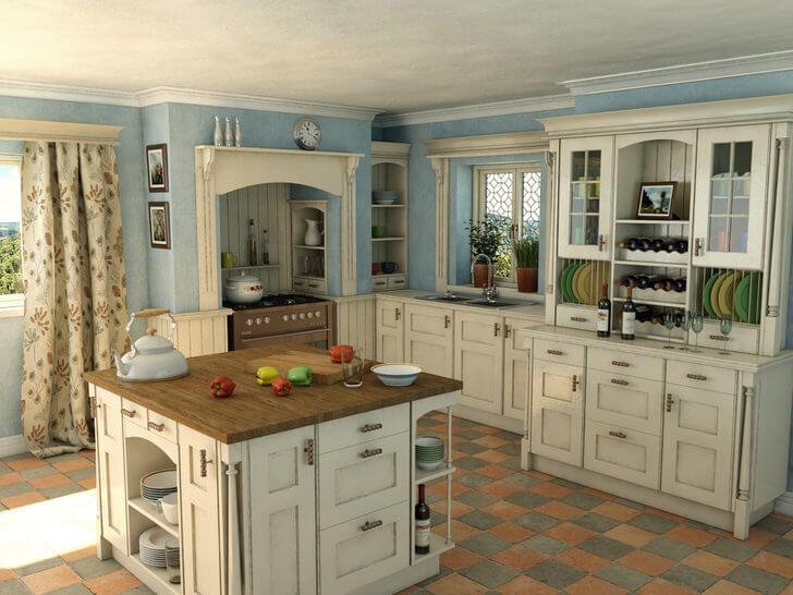 Аккуратно расставленные тарелочки, милые фарфоровые чайнички и медная посудастанут не только предметами быта, но и уникальным декором