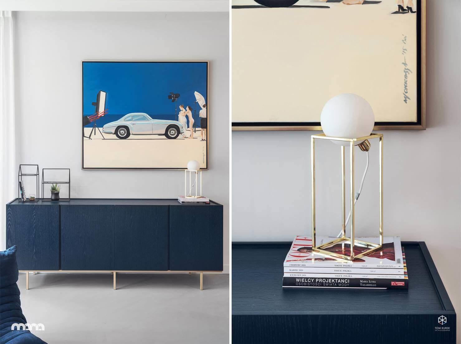 Геометрический рисунок прослеживается во всем: в форме мебели, предметах освещения и декоре