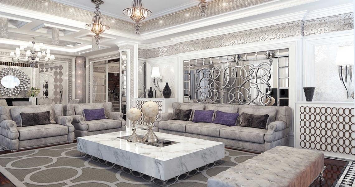 Ослепительный блеск металла и роскошная мебель в просторном помещении непременно погрузят вас во французскую роскошь 30-х годов