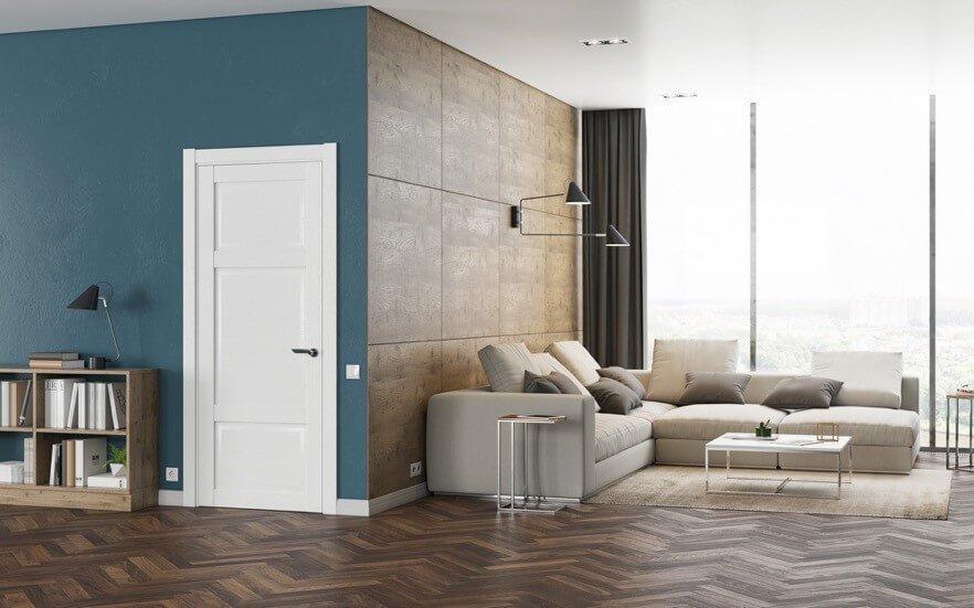 Фото белых дверей в интерьере современного стиля