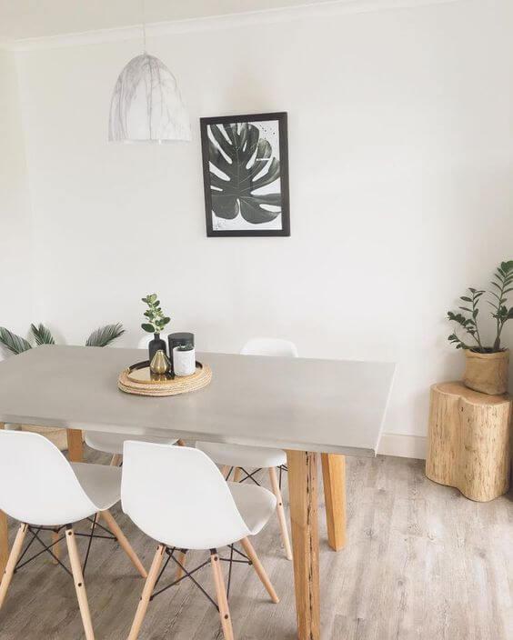Семейный ужин за фактурным бетонным обеденныйм столом будет наплен новыми эмоциями и яркими переживаниями.