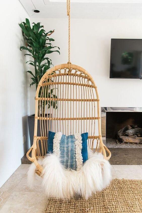 Использование натуральных и необработанных материалов — неотъемлемая часть декора в стиле boho