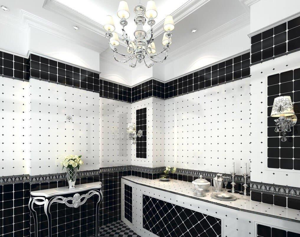 Мозаика - это дань винтажной эстетики, дополнение черно-белой дизайн истории.