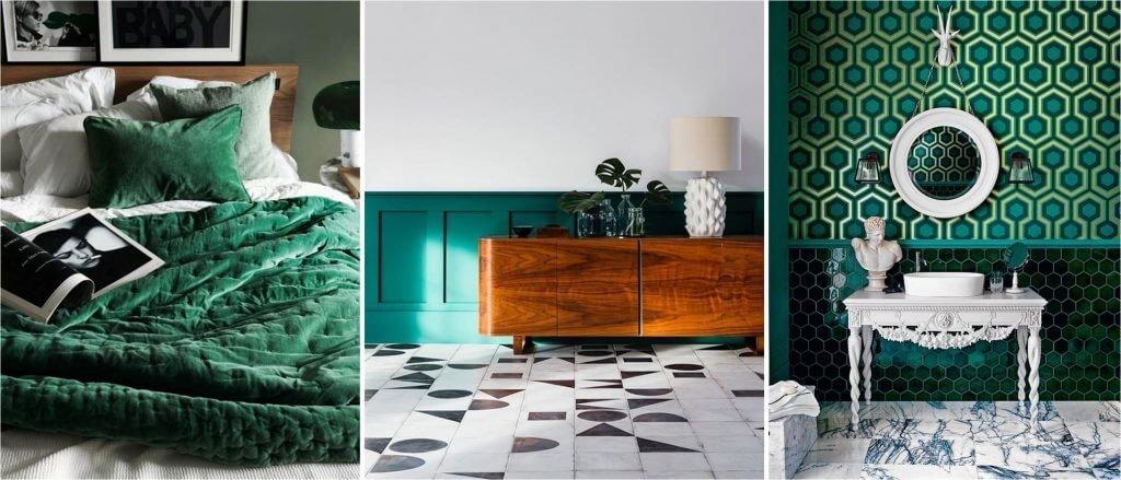 Цвет зеленной ели в интерьере принесет в ваш дом уют, комфорт и благоприятную атмосферу.