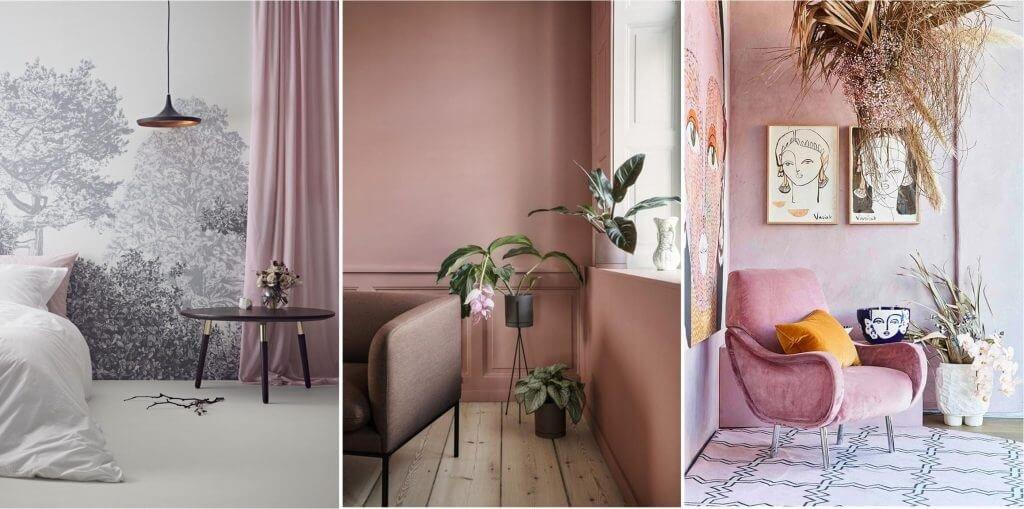 Очаторовательные оттенки изящных роз, свежего румянца, солнечного заката, спелого персика идеально пойдут интерьера романтических натур.