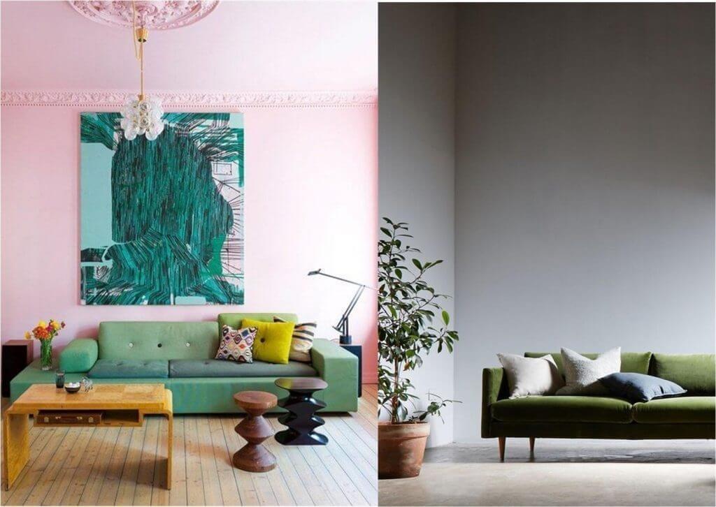Глубокие оттенки молодой зелени обладают свойством увеличивать пространство, и поэтому превосходно подходят для небольших помещений.