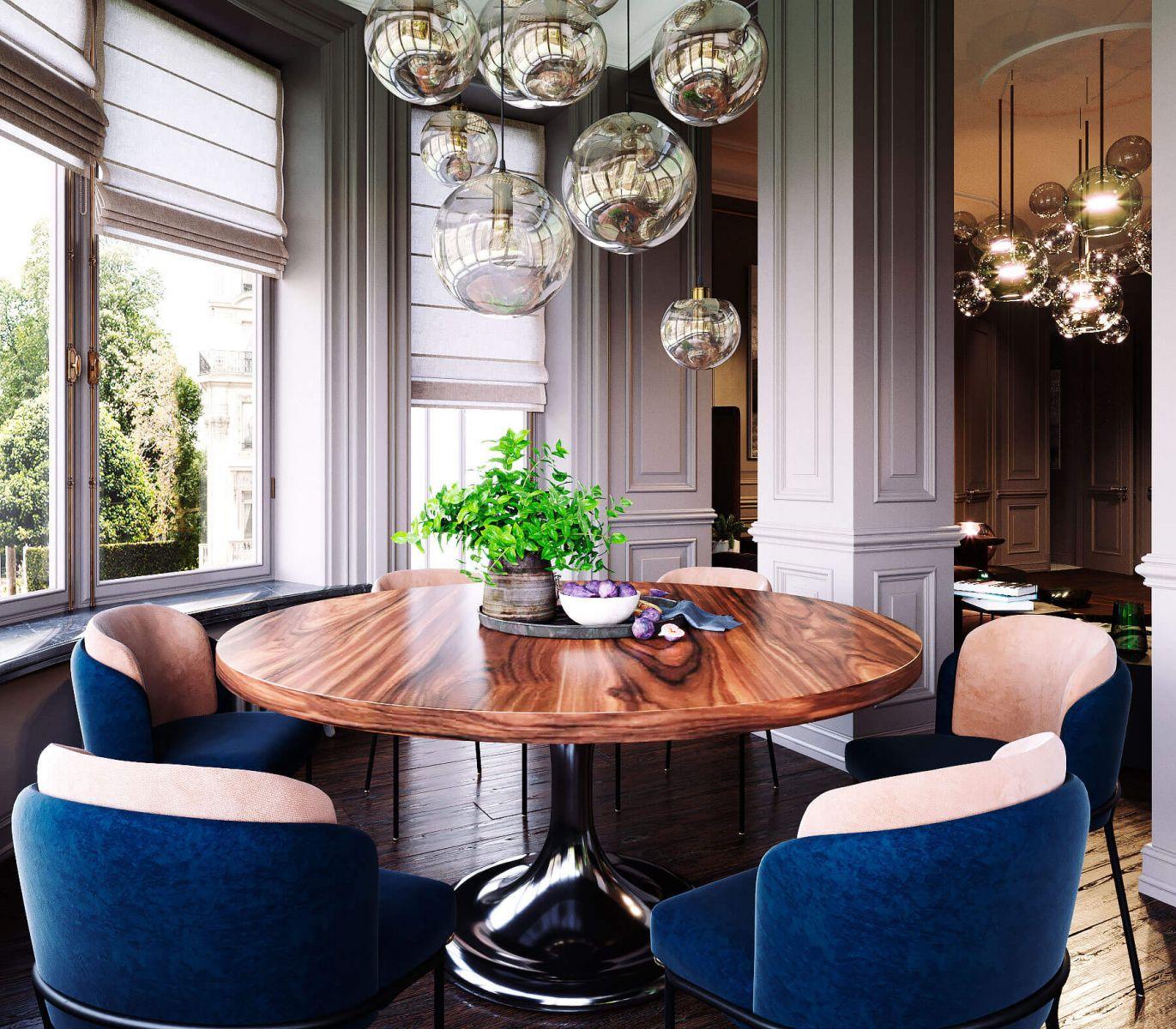 Для оформления пространства автор использовал мебель и предметы освещения от таких европейский фабрик: Minotti, Poliform, B&B Italia, Pablo Contour Lamps