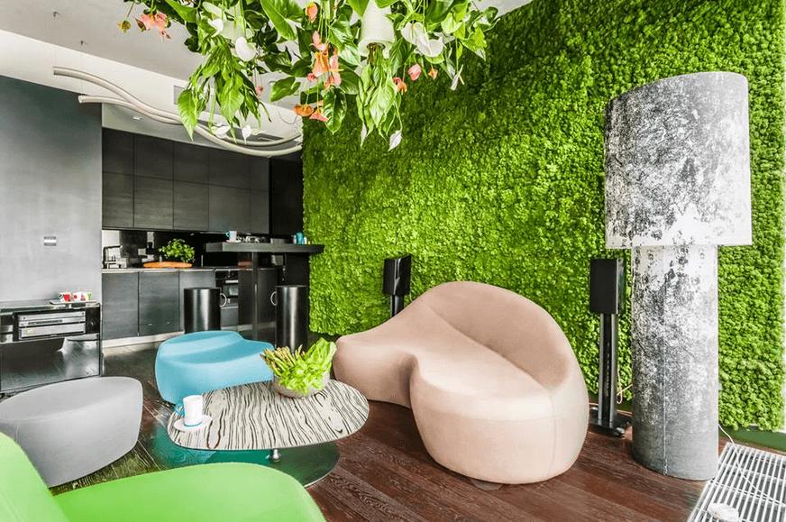 Стабилизированный мох и вертикальное озеленение – дорогое удовольствие, но оно того стоит!