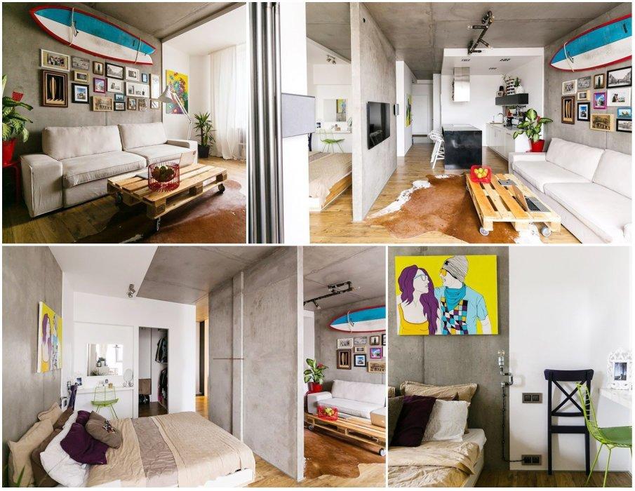 Современная квартира в стиле гранж