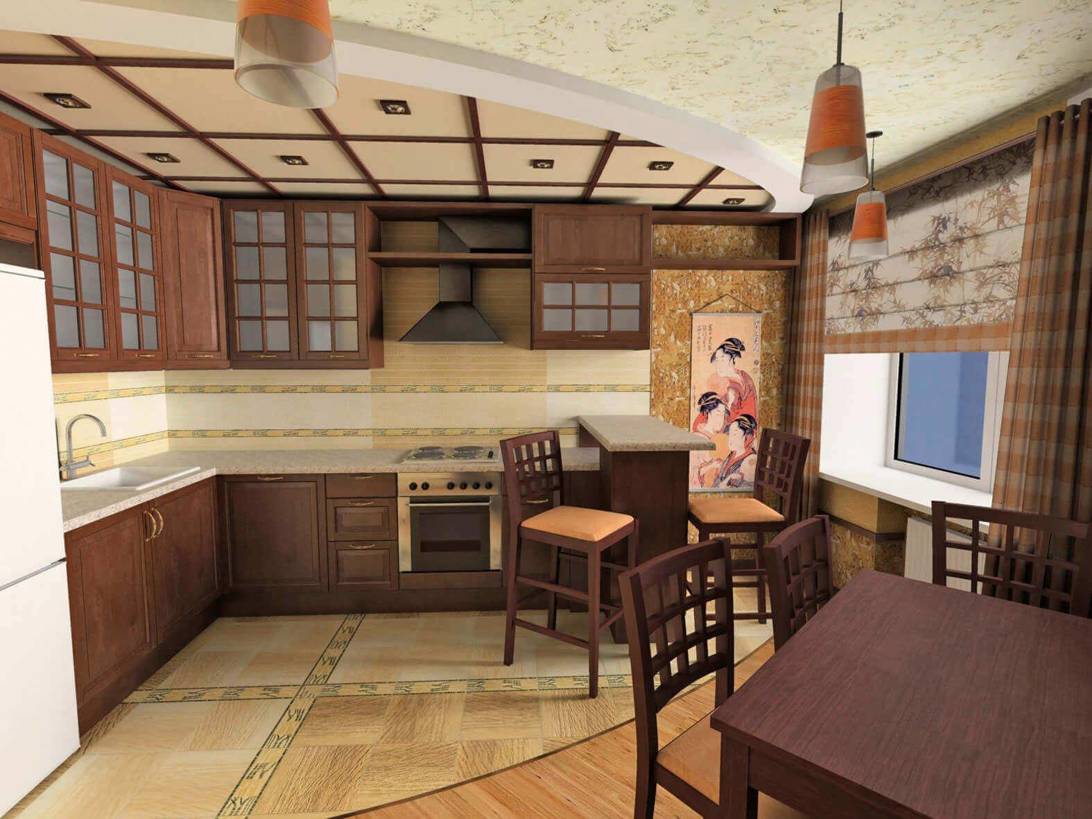 Пример кухни в японском стиле