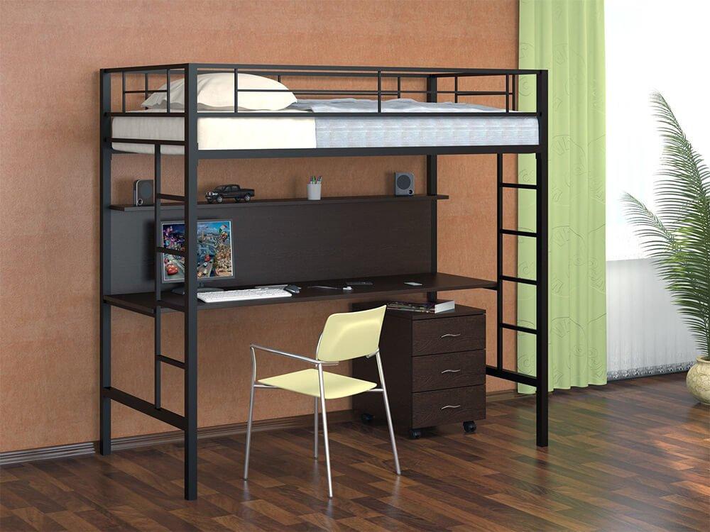 Пример того, как на двух квадратных метрах функционально оформляется рабочее и спальное место.