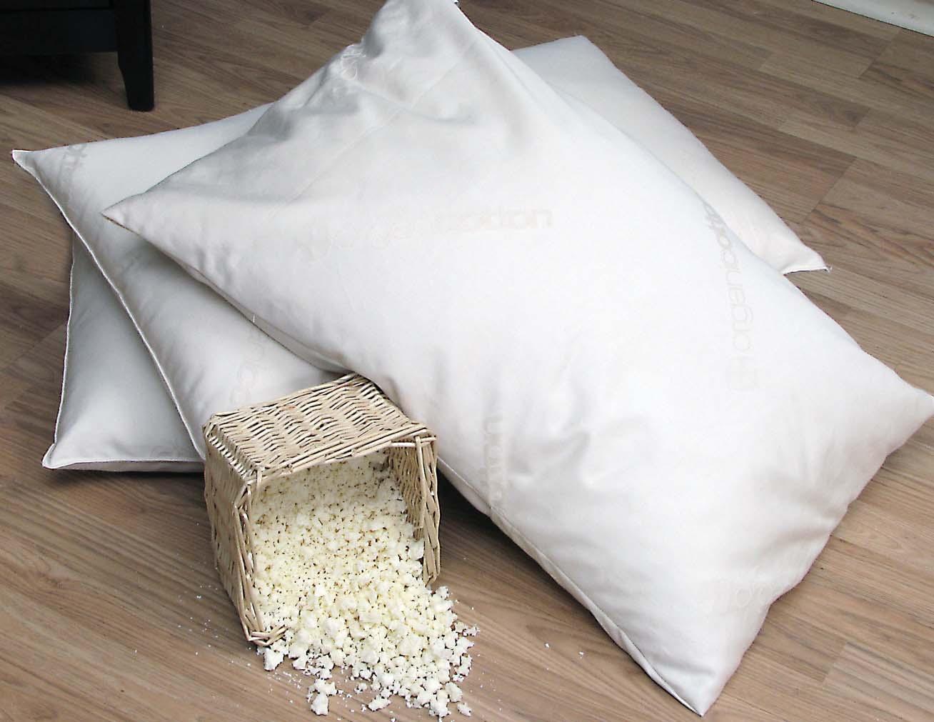 Подушки с наполнителем из латекса
