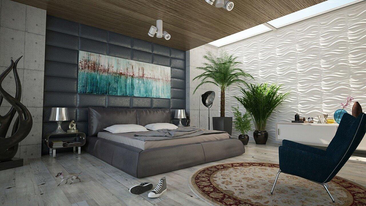 Кровать с мягким изголовьем может гармонично вписаться в любой стиль.
