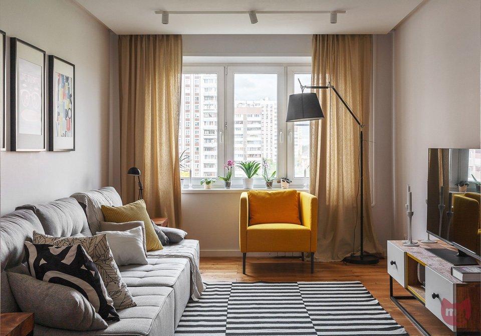 Даже небольшая гостиная может стать местом воплощения самых смелых дизайн-идей.