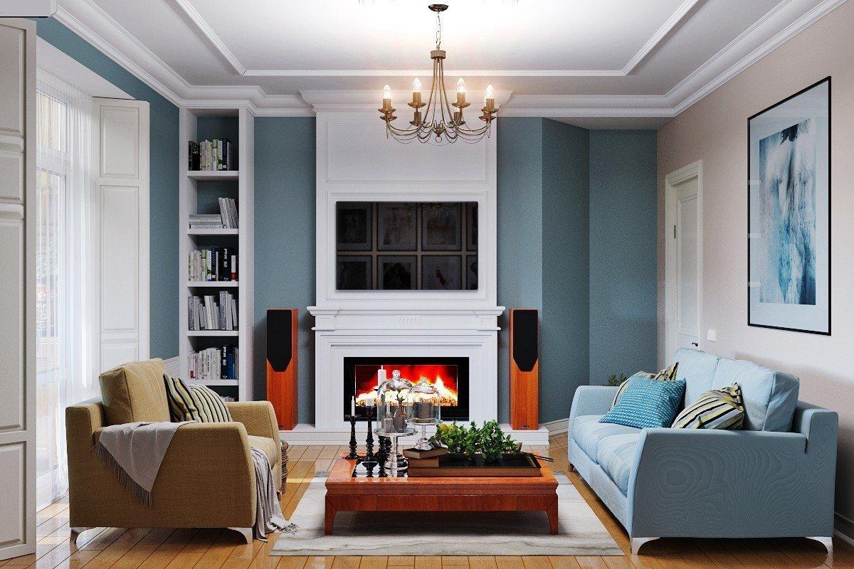Для расширения пространства небольшой гостиной, дизайнеры рекомендуют использовать минималистичный «г»-образный диван.