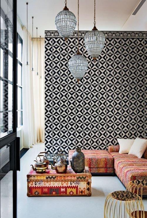Кружевной металл неотъемлемая часть декора в марокканском стиле.