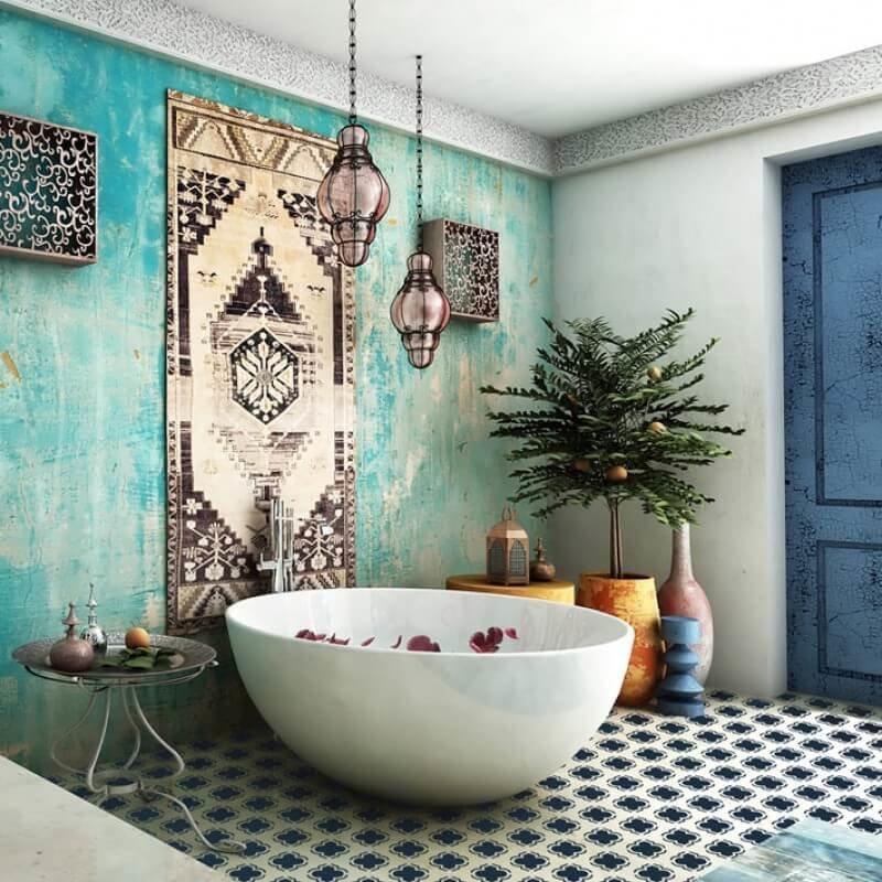 Особенностью стиля в отделке стен служит Марокканский таделакт или «марокканская штукатурка» — натуральная известковая штукатурка для эко- строительства.