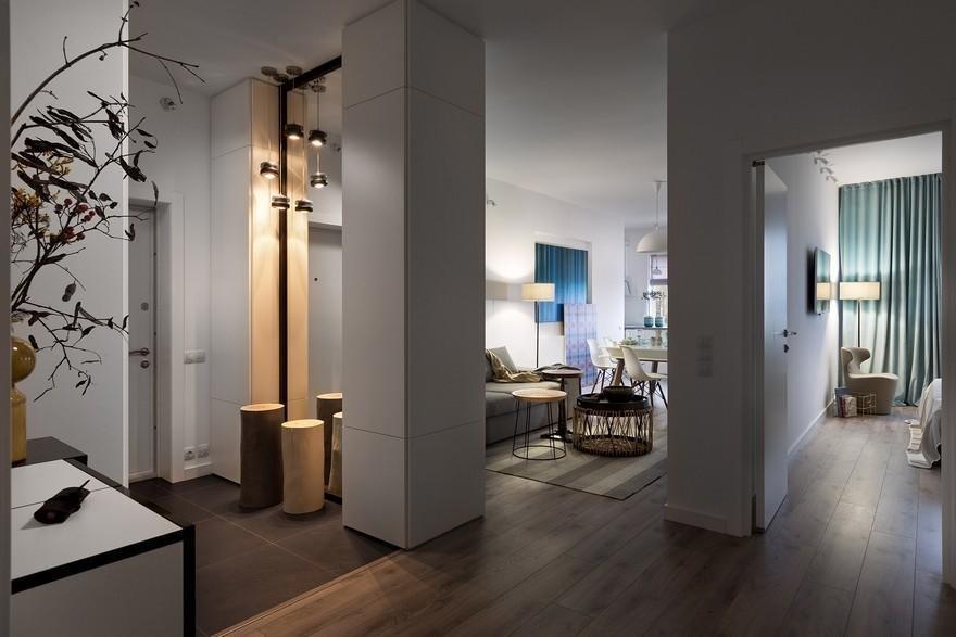 Большая прихожая, гостиная, две спальни ... все это оказалось возможным, несмотря на не очень удачное изначальное планирование помещения