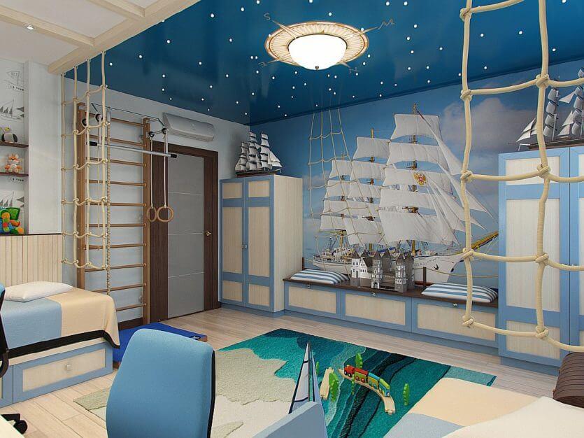 Детская в морском стиле исполнит самые сказочные детские мечты