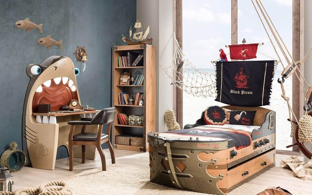 Детская в стиле пиратской бухты – заветная мечта любого мальчишки