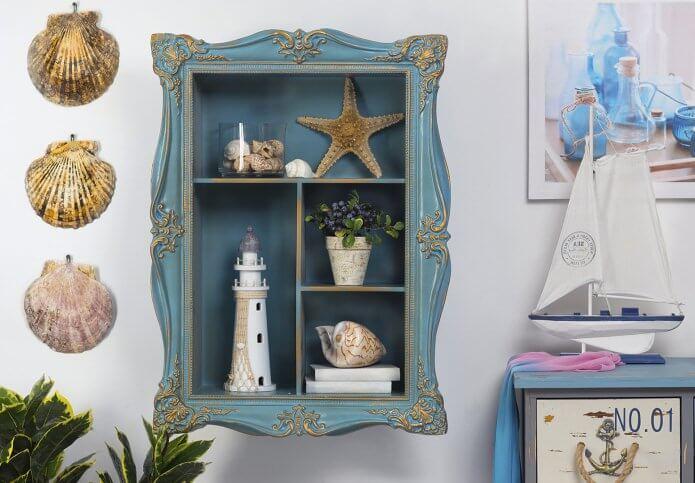 Экологичная мебель и предметы декора являются огромным плюсом морского стиля