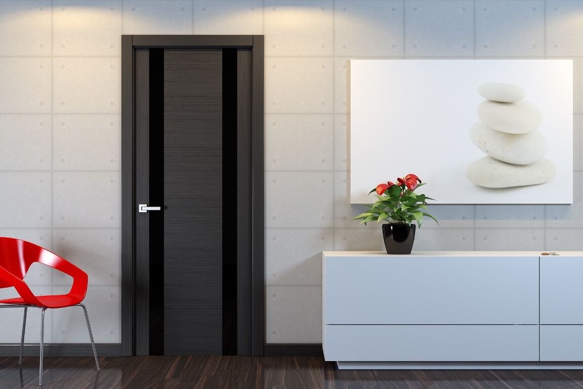 """Фанерные двери ничем проигрывают по виду деревянной """"классике""""."""