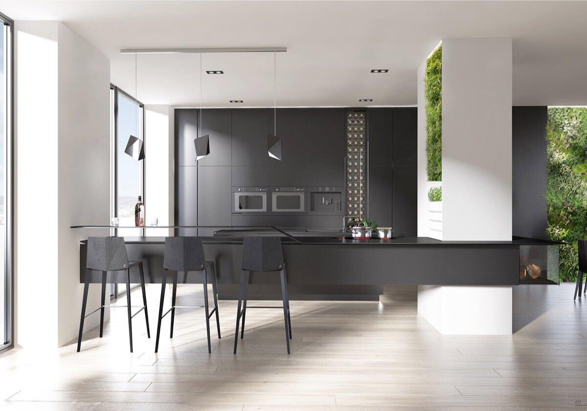 Используйте для создания минималистичного пространства глубокие темные оттенки флота, алого или угольного.