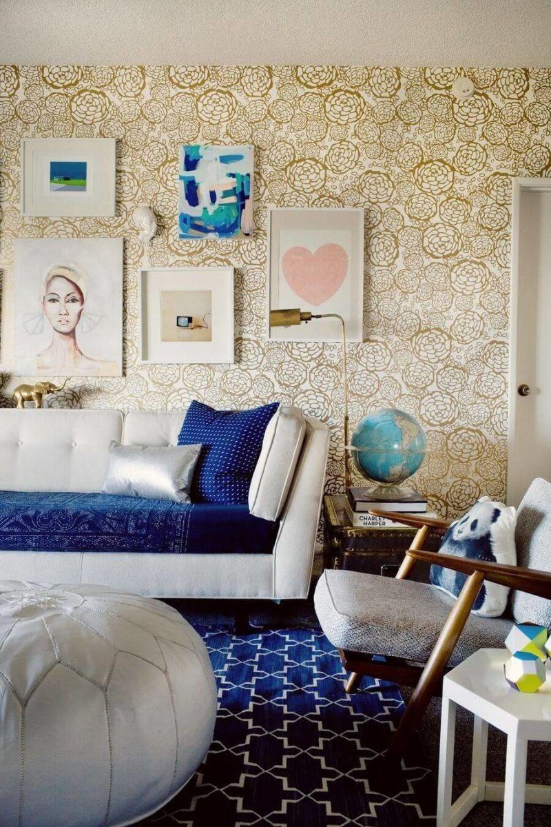 При выборе обоев акцентируйте внимание на тип комнаты.