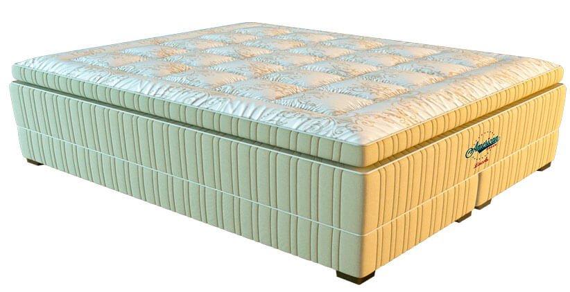 Высокий матрас выступает ключевым элементом в дизайне спальни