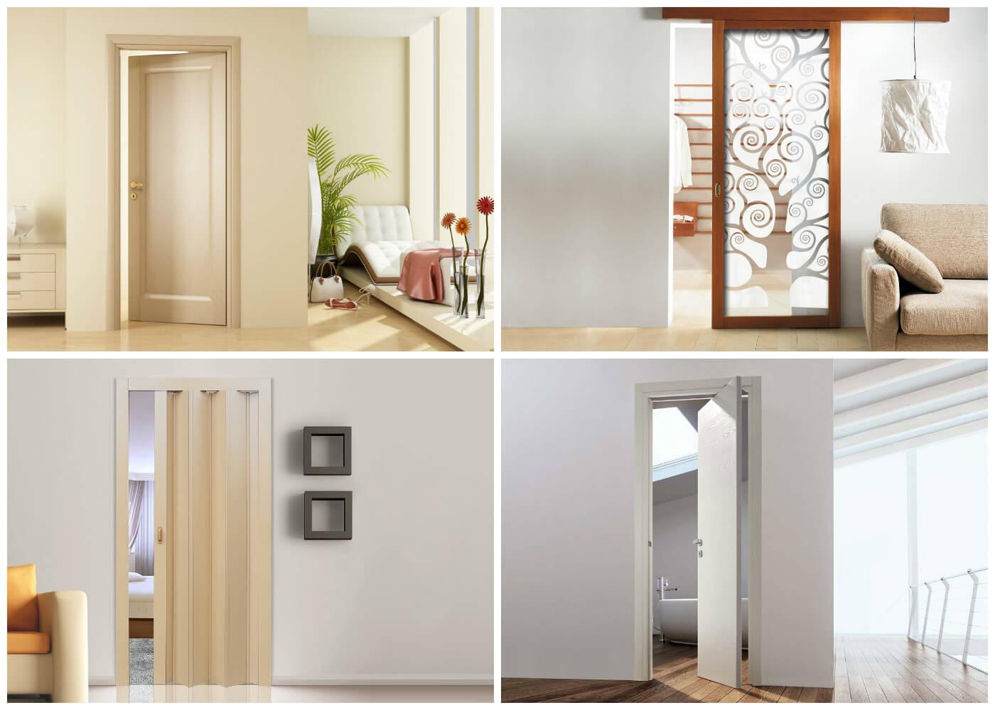 Варианты устройства дверей с разным способом открывания для квартир с неудачной планировкой