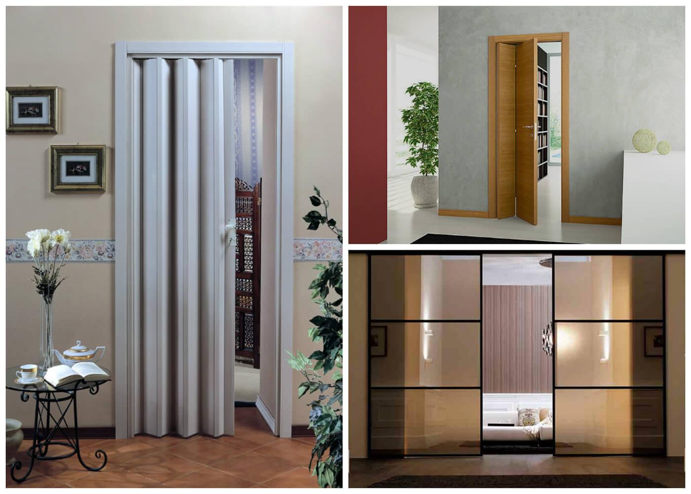 Раздвижные двери гармошка, книжка и двустворчатые