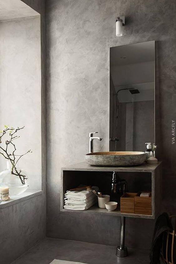 Бетонные стены –– это андеграундная классика дизайна, беспроигрышный вариант для стильной ванной комнаты.
