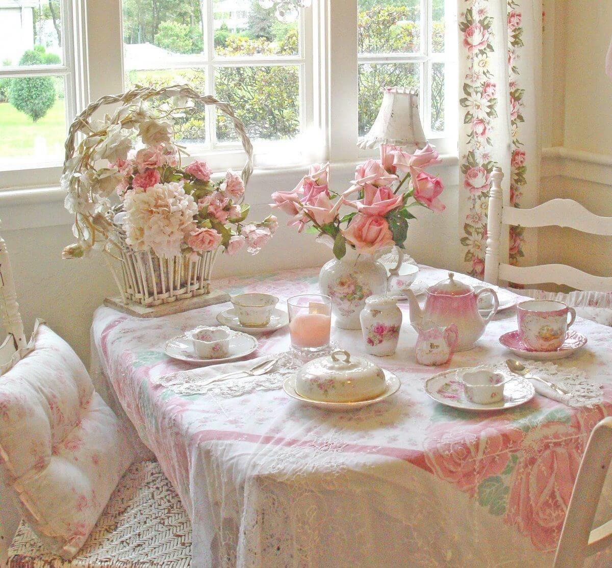Очаровательный текстиль в розовых оттенках