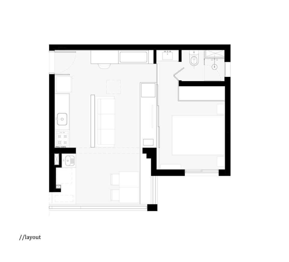 План квартиры с расстановкой мебели