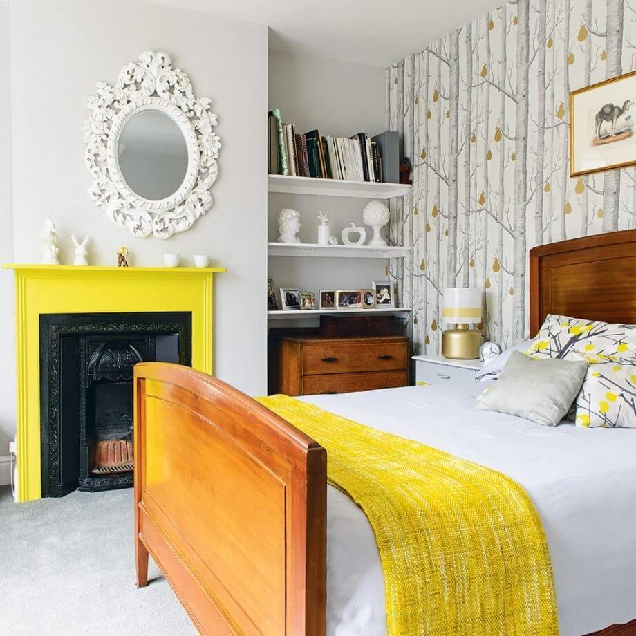 Акцентуация с помощью яркого желтого оттенка подойдет для любителей минимализма, жаждущих сохранить индивидуальный подход к дизайну.