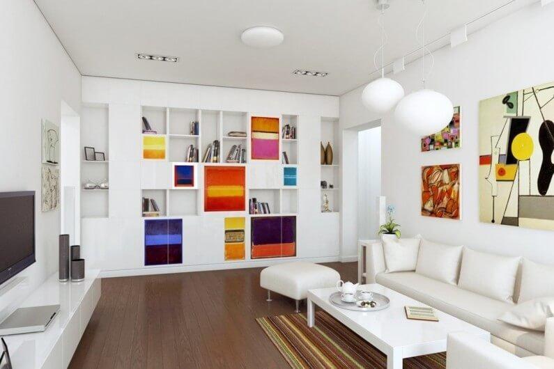 В данной стилистике белый цвет всегда выполняет роль основного фона.